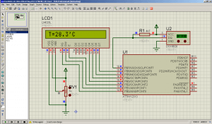 Подключение LCD на базе HD44780 и DS18B20 к ATtiny2313 выше нуля