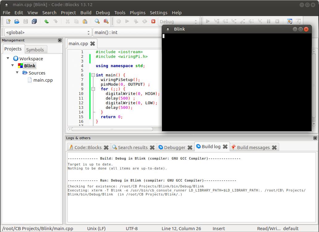 Установка и настройка Code::Blocks на Ubuntu BPI/RPI/OPI