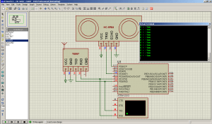 Схема подключения дальномера HC-SR04 к ATtiny2313 - MicroPi
