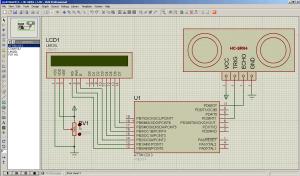 Подключение дальномера HC-SR04 к ATtiny2313 вывод на LCD (1)