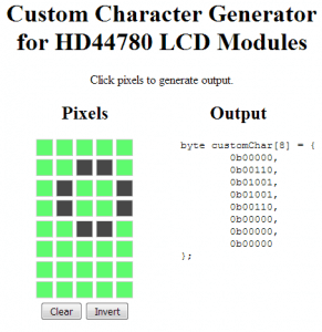 Custom Character Generator for HD44780 LCD Modules