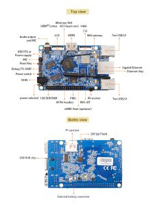 Orange Pi Win - A64 Quad-core ARM Cortex-A53 info