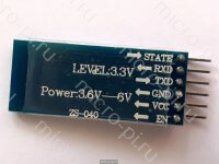 Модуль MLT-BT05 Bluetooth Low Energy (BLE) - вид снизу