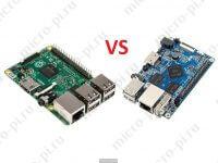 Сравнение характеристик Raspberry Pi 3 model B и Orange Pi PC-PC Plus