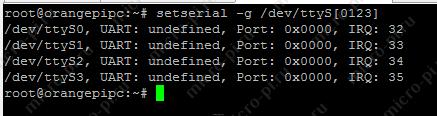 Доступные последовательные порты под Linux (Orange Pi PC Armbian)