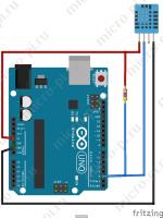 Подключение датчиков DHT11/DHT22 к Arduino UNO