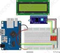 Подключение LCD 1602 HD44780 к Orange Pi по I2C с использованием адаптера PCF8574 и I2C Преобразователя логических уровней 5-3.3В