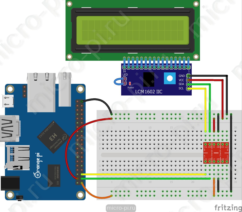 Raspberry Pi Pi4j 7 Lcd Hd44780 Micropi Thread Wiringpi 1602 Orange I2c Pcf8574