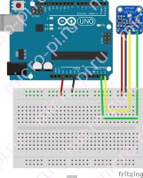Схема подключения BMP280 к Arduino UNO по I2C/TWI