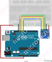 Схема подключения BMP280 к Arduino UNO по SPI (hardware)