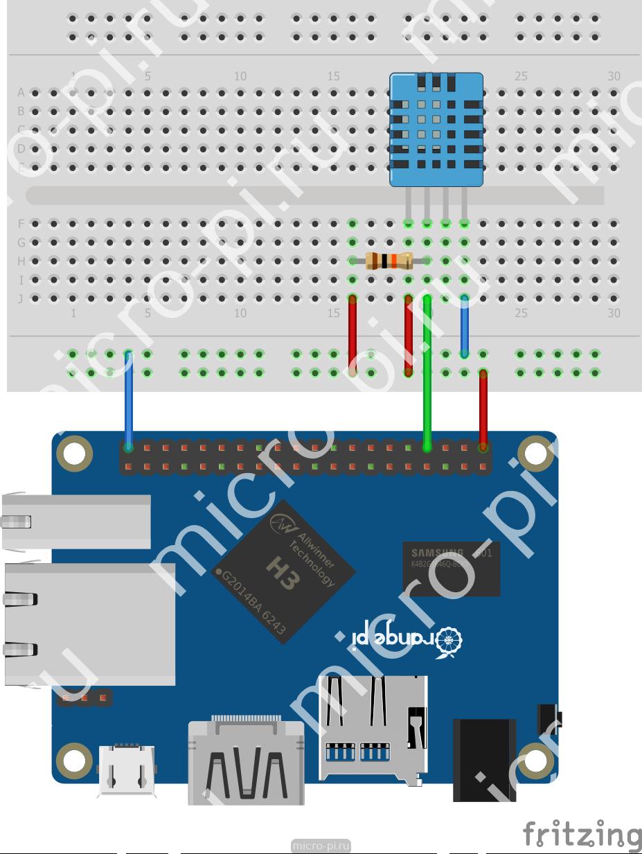 Raspberry Pi и Pi4J  Урок 8  Работа с DHT11/DHT22 - MicroPi