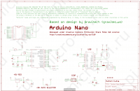 Arduino Nano Rev3.0/Rev3.2/V3.0 - Принципиальная схема