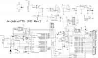 Arduino Uno Rev3 - Принципиальная схема