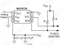 Модуль MCP4725 - принципиальная схема