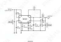 Принципиальная схема DC-DC преобразователя DSN-Mini-360 (MP2307/MP2307DN)