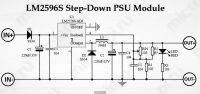 Принципиальная схема DC-DC преобразователя LM2596 (Прямое включение диода SS34)