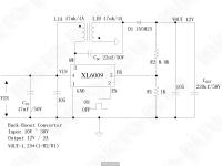 XL6009 - Принципиальная схема повышающего-понижающего DC-DC преобразователя