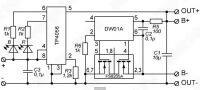 Принципиальная схема модуля на TP4056 с защитой