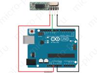 Схема подключения приёмника WL101-341 к Arduino