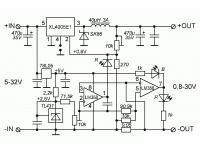 XL4015 - понижающий DC-DC преобразователь напряжения - Принципиальная схема устройства