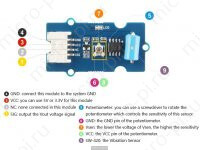 Датчик вибрации Arduino на базе SW-420 (Модуль Grove) - Распиновка и компонентымодуля