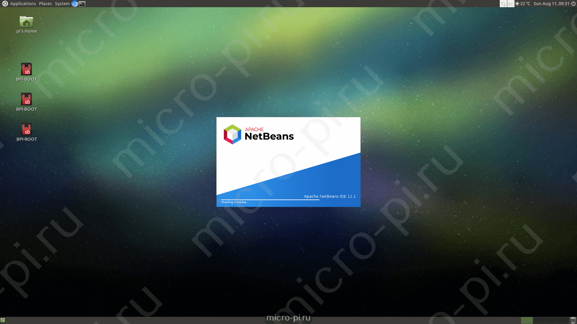 Установка Apache NetBeans 11 1 на Raspberry Pi/OPi/BPi - MicroPi