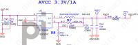 AVCC 3.3V (1A) - orange_pi-zero-v1_11_Page_07 (U5 SY8008B)
