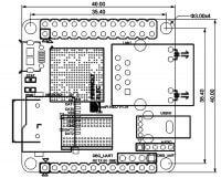NanoPi-NEO 1606 - Размеры