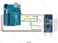 Схема Подключения MLT-BT05,AT-09,HM-10 к Arduino