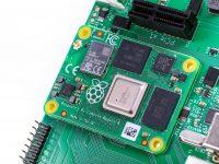 Raspberry Pi Compute Module 4 - Установленный